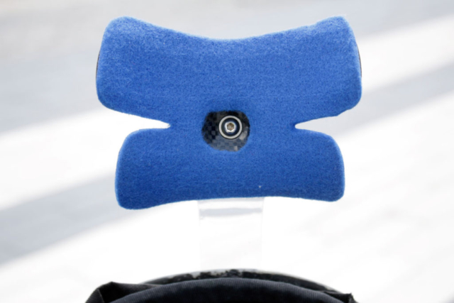 front 4mm felt of new comfortable hedrest, neckrest for recumbent bike.